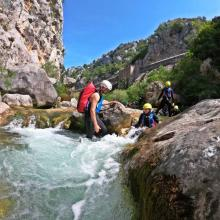 Canyoning adventure on Cetina river, Croatia